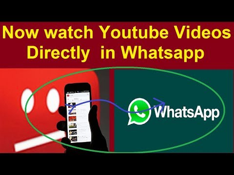 Now watch Youtube Videos Directly in Whatsapp--New Feature of Whatsapp Allow you to do that 2.17.40