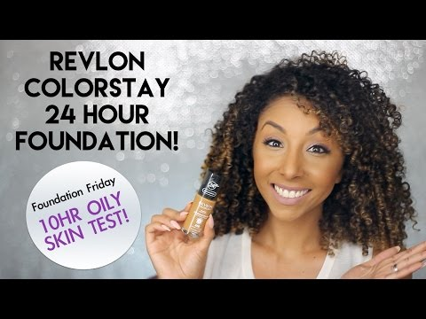 Revlon ColorStay 24 Hour Foundation! Oily Skin Test! | BiancaReneeToday