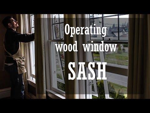 Operating wood window Sash.
