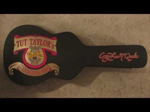 Painting my case for Tut Taylor's resonator
