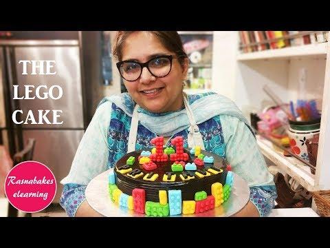 THE LEGO CAKE: Free cake decorating Tutorial
