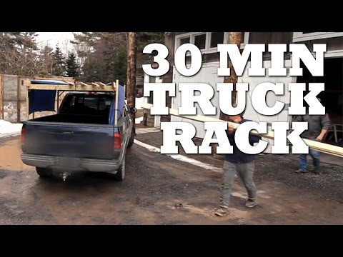 How to Make a TRUCK RACK in 30 Minutes or less
