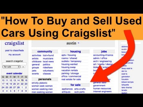 How To Buy And Sell Cars from Craigslist