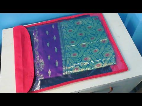DIY Saree Organizer/Cover from Shopping Bags - Saree Organization Idea