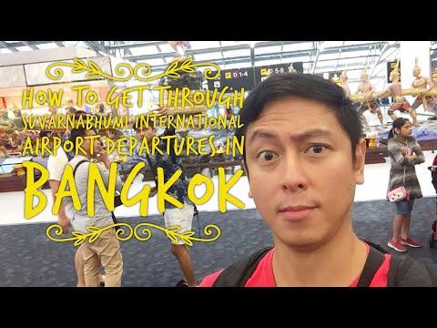 How to Get Through Suvarnabhumi International Airport Departures in Bangkok