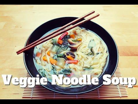 Veggie Noodle Soup (Vegan, Low-Fat)