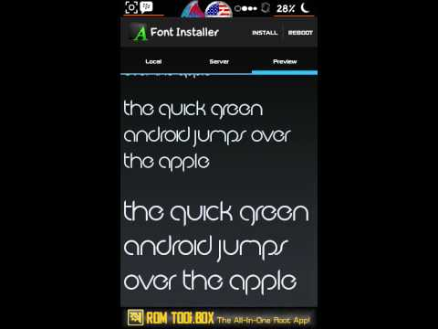 how to change the font on android smartphone with FONT CHANGER