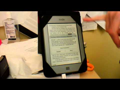 Using the dictionary on the Kindle Touch