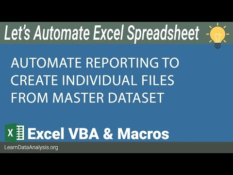 Reporting Automation: How to create individual reports into its own Excel file using VBA