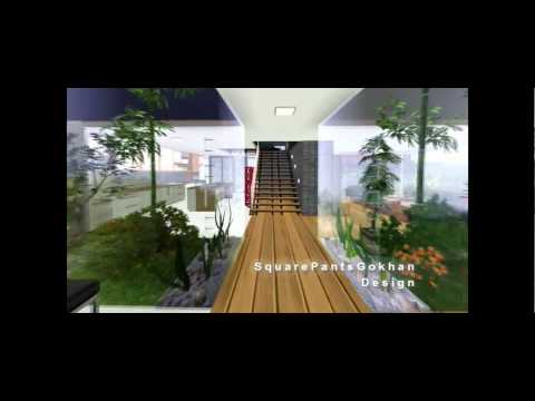 The sims 3 - Modern indoor garden