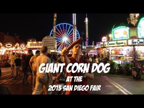 Giant $10 Corn Dog at the 2013 San Diego Fair