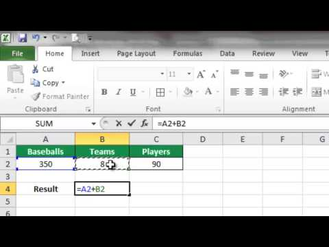 How to Use Math Formulas in Excel
