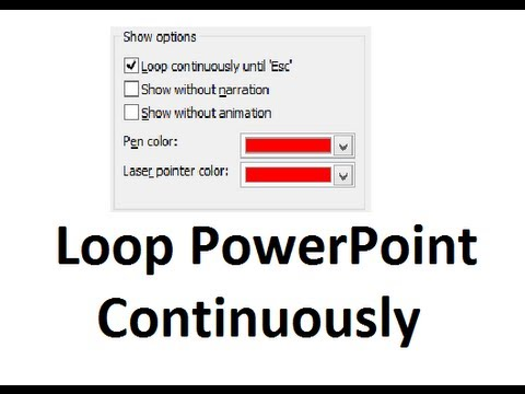Continuously loop a slideshow in PowerPoint 2010