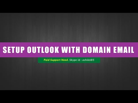 How to Setup Outlook With Your Domain Email