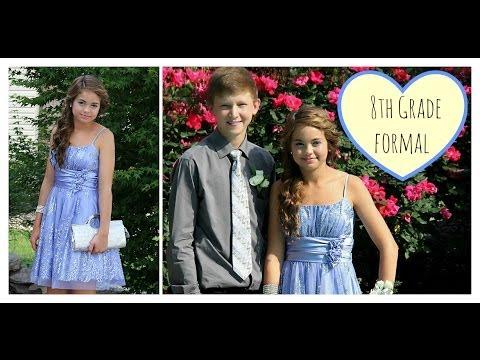8th Grade Formal Dance Hair, & Dress! ❤