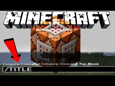Minecraft Title Tutorial (Command Block Titles)
