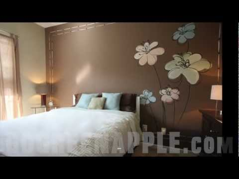 Master Bedroom Decorating Idea Green Apple Painting