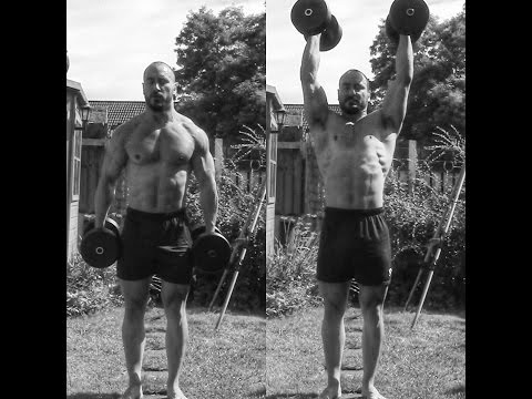 Best upper body exercise -  dumbell clean and press