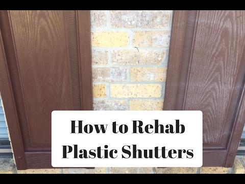 Restoring Old Shutters with Rejuvenate wipes!