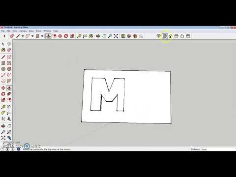 SketchUp Project: Keychain Nameplate