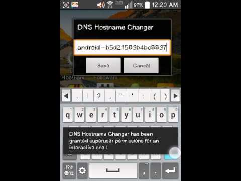 How to change dns hostname rooted android