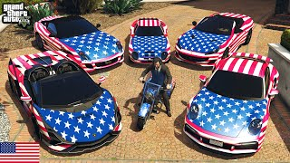 GTA 5 - Stealing USA Luxury Cars with Michael! (Real Life Cars #105)