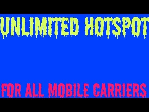 ((MUST WATCH)) HOW TO GET UNLIMITED MOBILE HOTSPOT FOR ANY CARRIER AT 4G LTE SPEEED
