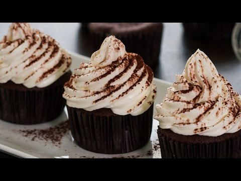 Chocolate Cupcakes with Irish Cream Frosting