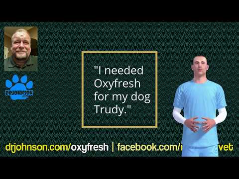 Oxyfresh: Oral disinfectant for dogs. How to control bad breath in dogs.