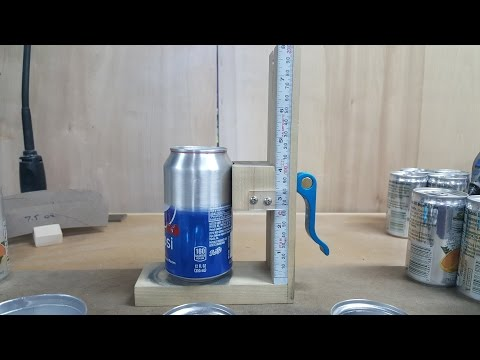 Alcohol Stove Jig for cutting beverage cans