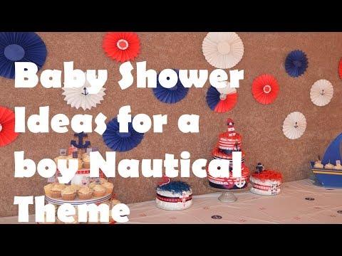 BABY SHOWER IDEAS FOR A BOY NAUTICAL THEME