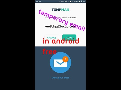 How to get temporary email address in android
