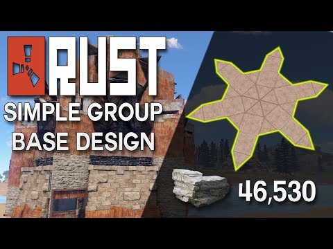 Rust Group Base Design with Heli Tower EASY TO BUILD - Rust Base Building (46,530 Stone)