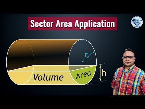 Volume of Water in a Pipe Trigonometry Application of Area
