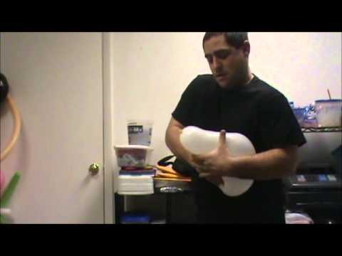 how to make a balloon snoman for christmas or winter wonderland themed parties