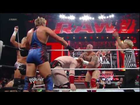 John Cena & Sheamus VS. Dolph Ziggler, Jack Swagger & Tensai - HANDICAP LUMBERJACK MATCH (HD 1080)