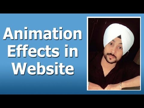How to add Animation Effects in Website - Text and Images