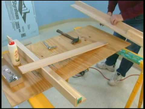 Build a model train layout: Model railroad benchwork train table how to Part 2 WGH