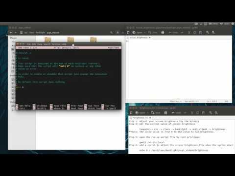 Keep Screen brightness in Ubuntu 14.04