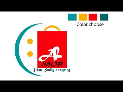 How to Design an Effective  Online shopping logo design advance tutorial online shopping logo design