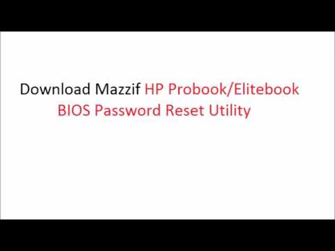 HP Elitebook   How to remove BIOS password step by step