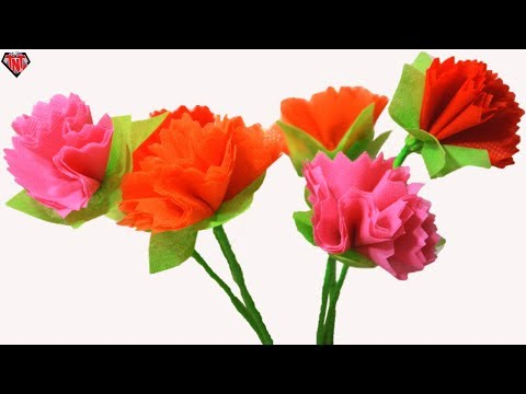 DIY Craft Shopping Bag Mum Flower || Best out of Waste Shopping Carry Bag