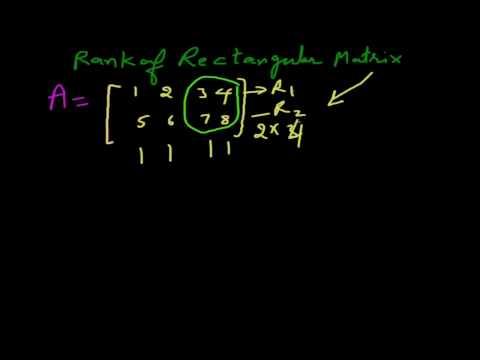 Rank of Rectangular Matrix - Part 3