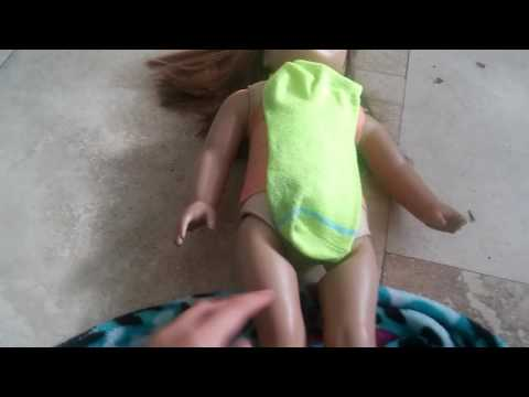 How to make a leotard for you American girl doll out of a scok