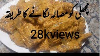 Fish ko masala lagane ka tarika First time in youtube