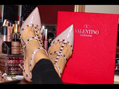 Valentino Rockstud 100mm Pumps Review & Unboxing!