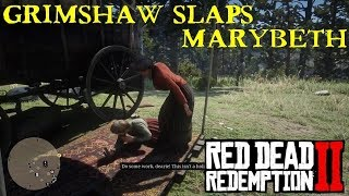 Red Dead Redemption 2 | Miss Grimshaw slaps Marybeth Savagely in the Face