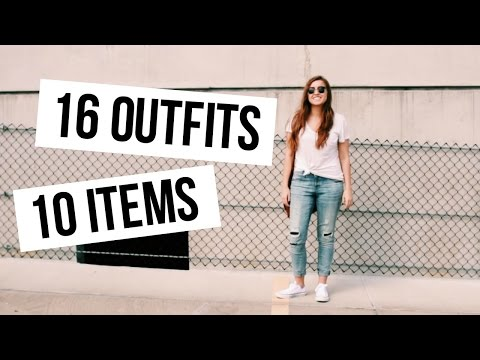 16 OUTFITS FROM 10 ITEMS | Spring Capsule Wardrobe 101