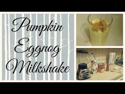 Pumpkin Eggnog Milkshake Recipe