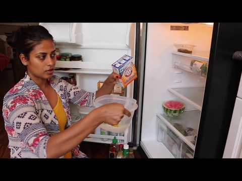 REFRIGERATOR LEANING ROUTINE-HOW TO CLEAN REFRIGERATOR-SMALL FRIDGE ORGANIZATION
